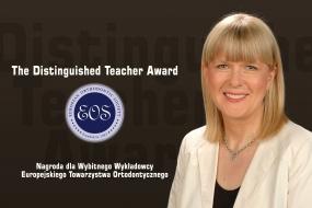 Dr hab. n. med. Ewa Czochrowska z nagrodą The Distinguished Teacher Award EOS